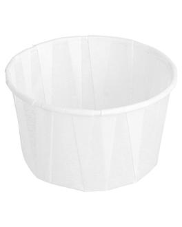 pots traiteur plissÉ 100 ml Ø6,5x3,8 cm blanc parch.ingraissable (250 unitÉ)