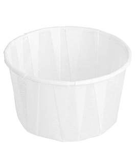 terrina carta plissettata 100 ml Ø6,5x3,8 cm bianco pergamana antigrassi (250 unitÀ)