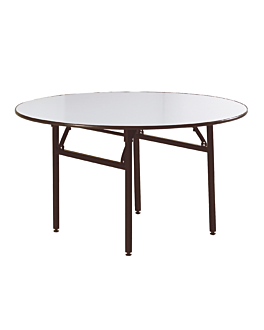 tables rondes pliables Ø 122x76 cm noir acier (2 unitÉ)