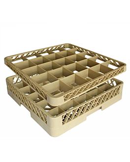 suplemento rack 25 compartimentos 50x50x4,5 cm beige pp (1 unidade)
