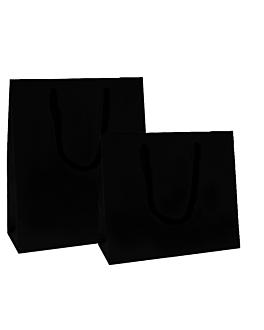 bolsas boutique, asa cordÓn 150 g/m2 40+15x32 cm negro kraft (100 unid.)