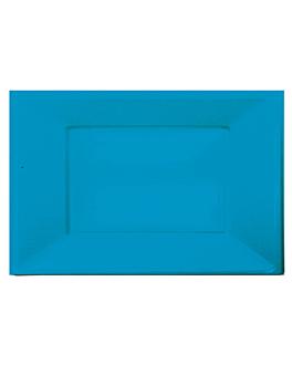 25 plateaux rectangulaires 23x33 cm turquoise ps (20 unitÉ)