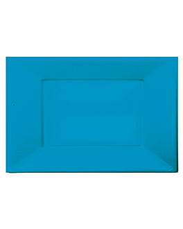 25 bandejas retangulares 23x33 cm turquesa ps (20 unidade)