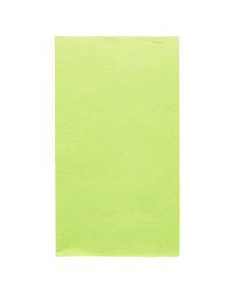 ecolabel napkins f. 1/6 'double point' 18 gsm 33x40 cm aniseed green tissue (2000 unit)