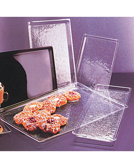 bandeja para cÚpulas 37,4x27,3x2 cm transparente acrÍlico (1 unid.)