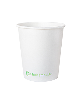 single wall hot drink cups 'biodegradable' 180 ml 190 + 30 pla gsm Ø7,2/5,3x7,8 cm white cardboard+pla (1000 unit)