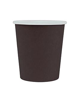 pequeÑas tarrinas 120 ml 210 + 18 pe g/m2 Ø6,15/4,5x6,5 cm negro cartoncillo (1000 unid.)