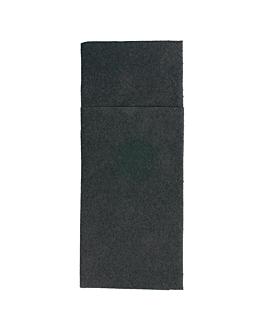 servilletas cangurito 55 g/m2 33x40 cm negro airlaid (700 unid.)