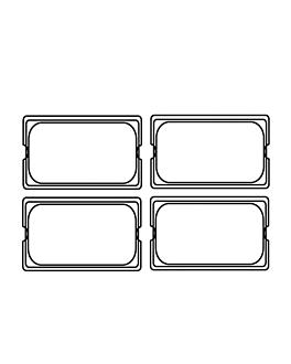 tapa 1/4 para cÓdigos 181.73 26,5x16 cm plateado inox (1 unid.)
