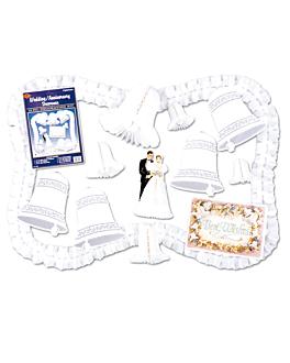 """decoration """"mariages"""" 37x26 cm assorti carton (1 unitÉ)"""