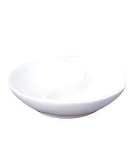 round dishes Ø 9 cm white porcelain (12 unit)