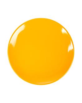 dishes Ø 23 cm yellow melamine (12 unit)