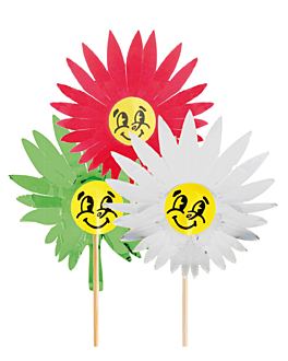 "100 u. decorazioni per gelati ""chenille sun"" 15 (h) cm colori varie legno (1 unitÀ)"