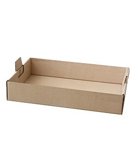 """plateaux """"traiteur"""" 54,5x38,5x9,5 cm havane kraft (50 unitÉ)"""