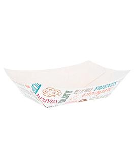 barquillas 'parole' 480 g 250 g/m2 10x6x5 cm blanco cartoncillo (200 unid.)