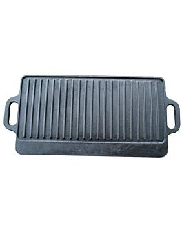 placa grill 42x23x1 cm negro hierro (1 unid.)