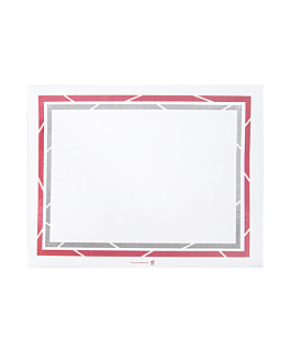 sets de table pour plateaux 'self-service' 48 g/m2 28x35 cm blanc papier (2000 unitÉ)