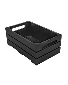 caja buffet gn 1/4 26,5x16,2x10 cm negro bambÚ (1 unid.)
