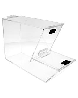 expositor para alimentos a granel empilhÁvel 28x18x10 cm transparente acrÍlico (1 unidade)