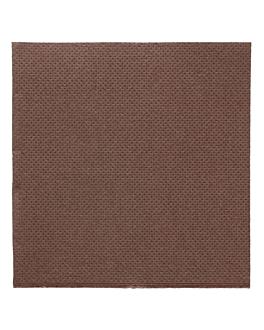serviettes ecolabel 'double point' 18 g/m2 20x20 cm chocolat ouate (2400 unitÉ)