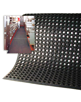 """rotolo di tapetto antifatica """"drainage"""" 183x1000x1 cm nero gomma (1 unitÀ)"""