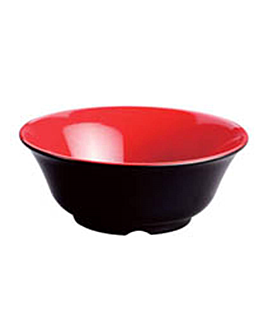 bowls black/red Ø 25,4x10 cm melamine (24 unit)