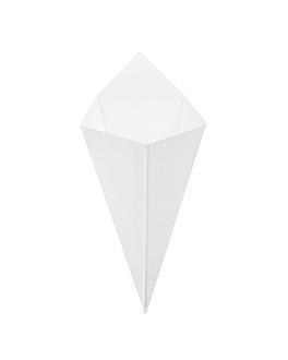 coni per fritti 'thepack' 100 g 230 g/m2 12,8x21,7 cm bianco cartone ondulato a nano-micro (1600 unitÀ)
