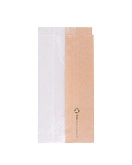 bolsas para sÁndwiches con ventana eco 'corner window' 40 g/m2 9+5,5x18 cm natural kraft (250 unid.)