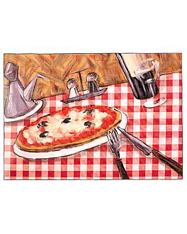 sets de table offset 'pizza' 70 g/m2 31x43 cm quadrichromie papier (2000 unitÉ)