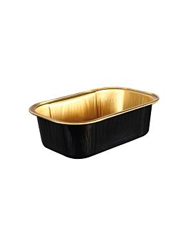 recipientes pastelerÍa 168 ml 10,8x7,2x3,3 cm oro/negro aluminio (100 unid.)