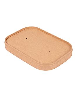 coperchio per contenitori 254.33/34/35 330 + 30 pe g/m2 17,3x12,3x2 cm naturale kraft (300 unitÀ)