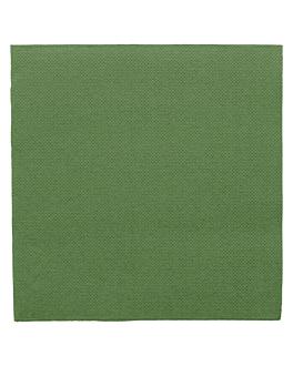 ecolabel napkins 'double point' 18 gsm 33x33 cm prairie green tissue (1200 unit)