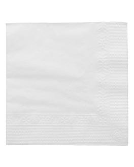 serviettes 2 plis 18 g/m2 20x20 cm blanc ouate (4800 unitÉ)
