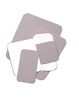 tapas para cÓdigo 135.71 19,6x13,1 cm blanco aluminio (100 unid.)