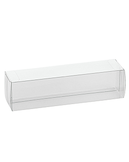 pastry cases 19x5x5 cm clear pvc (200 unit)