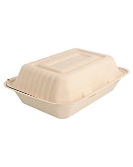 caixas 'bionic' 1 l 16,5x22,5x6,4 cm natural bagaÇo (200 unidade)