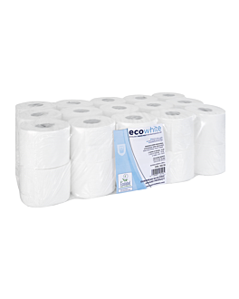 semi-industrial toilet paper ecolabel 2 ply - 73 m 17 gsm Ø12,5x9,5 cm white tissue (30 unit)
