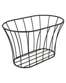 tuscan style basket 21x12,7x12,7 cm black steel (12 unit)
