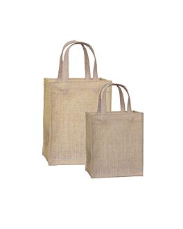 bags 20+10,5x25 cm natural jute (10 unit)