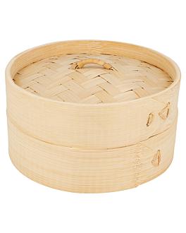 behÄlter mini dampfgarer Ø 15x8 cm natur bambus (1 einheit)