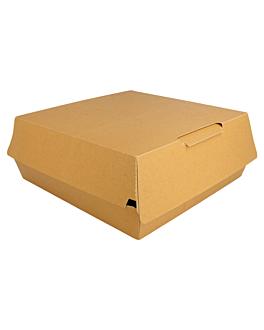 "cajas ""large lunch box"" 400 g/m2 24x23,5x9 cm marrÓn cartoncillo (200 unid.)"