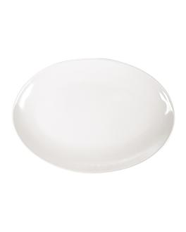 assiettes ovales 25,5x18 cm ivoire melanine (15 unitÉ)