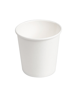 single wall hot drink cups 120 ml 230 + 18 pe gsm Ø6,2x4,5/6 cm white cardboard (1000 unit)
