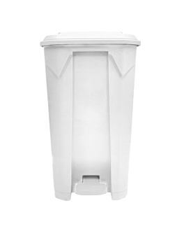 container with lid 100 l 49x47x84 cm white pp (1 unit)