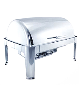 chafing dish gastronorm 1/1 9 l 64x48,5x44 cm plateado inox (1 unid.)