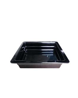 bacs gn 1/2 6,5 (h) cm noir melanine (6 unitÉ)