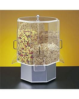 distributore doppio cereali Ø38x53,5 cm trasparente acrilico (1 unitÀ)