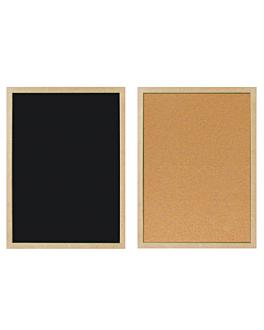 cartelera reversible 60x90 cm negro (1 unid.)