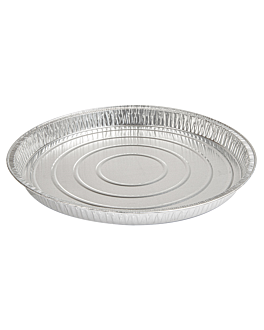 recipientes tartaletas 1200 ml Ø 27,8x25x2,4 cm aluminio (100 unid.)