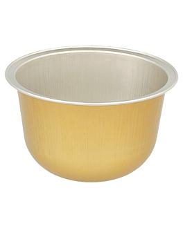 recipientes pastelerÍa 150 ml Ø 8,5x4,3 cm oro aluminio (100 unid.)
